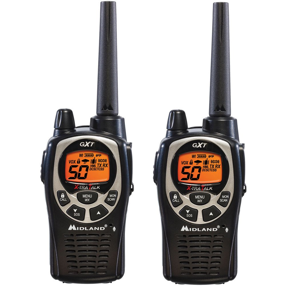 Midland GXT1000VP4 36 Mile 50 Channel FRS GMRS Two Way Radio Pair