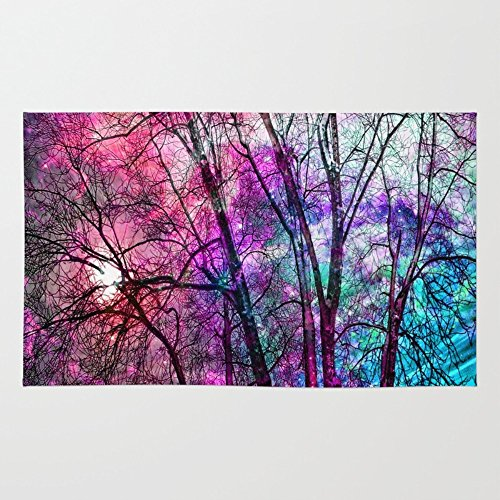 Society6 Purple Teal Forest Rug 2' x 3'