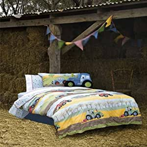 Hiccups Field Days Duvet Cover & Pillowcase Set, Multi, Single