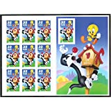 Sylvester and Tweety Full Pane of (10) 32 Cent Postage Stamps
