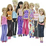 Toy - E-TING 5 Sets =5 Clothes Outfit 5 Trousers Pants for Barbie Doll Random Style
