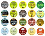 Crazy Cups Tea Sampler for Keurig K-Cups, Gift pack (20 K-Cups)