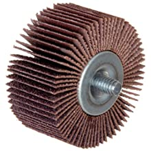 Merit High Performance Quick-Change Mini Grind-O-Flex Abrasive Flap Wheel, Threaded Shank, Ceramic Aluminum Oxide