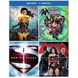 DC 4-Film Bundle: Wonder Woman / Suicide Squad / Batman v Superman: DOJ / Man of Steel [Blu-ray]