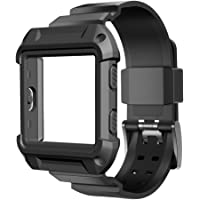 Umtele Sport Silicone Replacement Strap with Frame for Fitbit Blaze Smart Fitness Watch