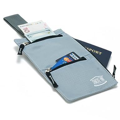 Shacke Pocket Vault - Hidden Travel Belt Wallet w/ RFID Blocker
