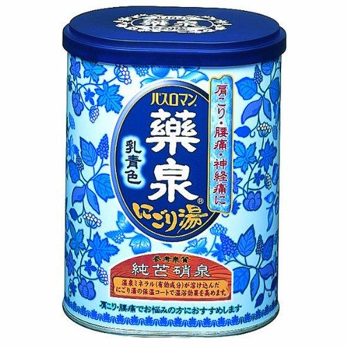 アース 薬泉バスロマン にごり湯 乳青色 650g