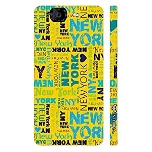 Micromax Canvas Knight A 350 New York Graffiti designer mobile hard shell case by Enthopia