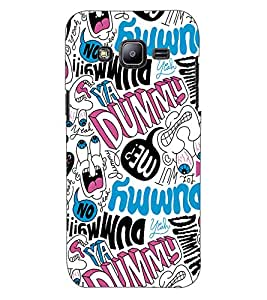 ColourCraft Typography Design Back Case Cover for SAMSUNG GALAXY J2 DUOS
