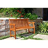 VIFAH V206E Outdoor Two Person Bench, Henly