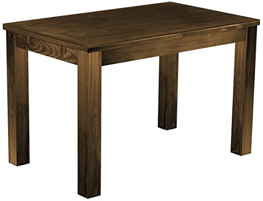 Brasil 'Rio' 120 x 73 cm, Antique Pine Wood Tone Oak Furniture Dining Table