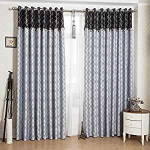 Fadfay luxury grey jacquard curtains for living room blackout window curtains - Amazon curtains living room ...