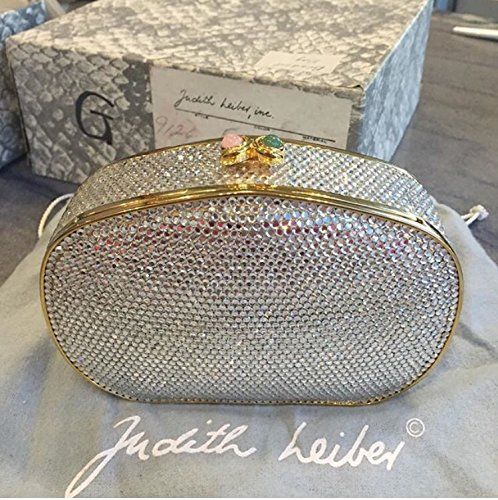 judith-leiber-gold-swarovski-crystal-bag-new