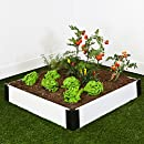 Contech Raised Garden Kit, 4 by 4-Inch, White