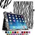 Fintie Apple iPad Air Folio Case Cover Lederschutzh�lle Tasche Etui - Slim Fit Leather Smart Cover mit Auto Schlaf / Wach Funktion f�r iPad Air 5 (5th Generation) - Zebra Schwarz