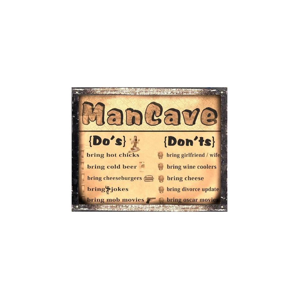 GIFT Mancave Beer funny METAL sign bar tavern pub vintage style wall art 265