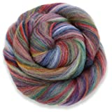 4 oz Paradise Fibers Multi-Colored Merino Wool Roving - Granada (Color: multicolored, Tamaño: 4 ounces)
