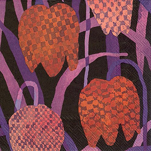 gerda-red-fritillary-dark-red-floral-marimekko-luncheon-paper-table-napkins-20-in-a-pack-33cm-square