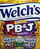Welchs PB&J Bite Size Snacks Combo Pack 40 ct.