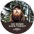 "Accuform Signs DDMFS104 Duck Dynasty Slip-Gard Adhesive Vinyl Round Floor Sign, Legend ""GO HOME SAFE TODAY!"" (Jase), 17"" Diameter"