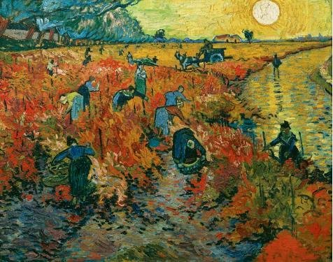 Oil Painting 'The Red Vineyard-Vincent Van Gogh,1888', 30 x 38 inch / 76 x 97 cm , on High Definition HD canvas prints is for Gifts And Basement, Home Office And Home Theater Decoration (Red Wagon Tutorials compare prices)