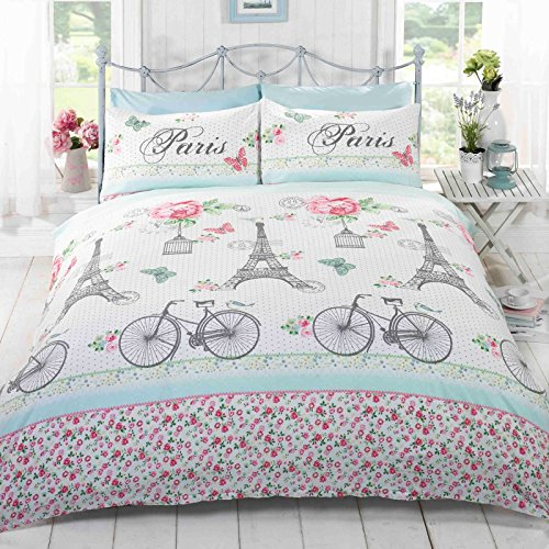 C'est La Vie Paris Single/US Twin Duvet Cover and Pillowcase Set