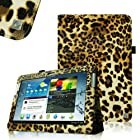FINTIE (Leopard Brown) Slim Fit Folio Case Cover for Samsung Galaxy Note 10.1 inch Tablet N8000 N8010 N8013