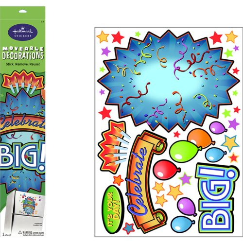 Celebration Burst Removable Wall Decorations Party Accessory