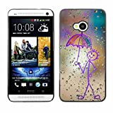 Shell Star Happy Rain Window Painting Snap On Hard Protective Case For HTC One M7