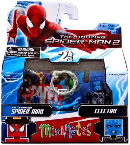 Marvel Minimates Series 56 Mini-Figure Battle-Damaged Spider-Man with Electro