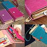 Envelope Wallet Purse Phone Case for iPhone 4 4S 5 5S 5C Samsung Galaxy S2 by NYC Leather Factory Outlet