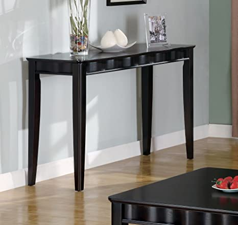 Deep Glossy Chocolate Brown Sofa Table by Coaster Furniture