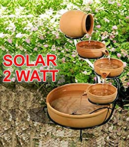 solar brunnen solar springbrunnen gartenbrunnen zierbrunnen solar wasserspiel solar teichpumpe. Black Bedroom Furniture Sets. Home Design Ideas