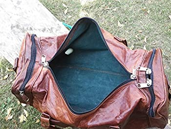 """22"""" LEATHER DUFFLE BAG FOR MENS BROWN 2"""