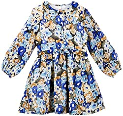 Oye Girls Dress With Peter Pan Collar - Blue (3-4Y)