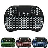 UTP Portable Mini Backlit Wireless Keyboard BK8 With Touchpad Multimedia Keys Keyset For PC Pad Android/Google TV Box HTPC IPTV PS3
