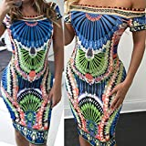 Women-Sexy-Printed-Bandage-Evening-Party-Shoulder-Off-Cocktail-Maxi-Long-Dress