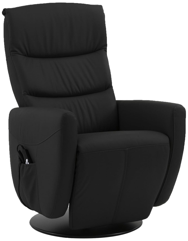 Sino-Living SE-800C-S-01-M Relax und Ruhesessel in Dickleder, schwarz mit manueller Verstellung