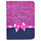 Noarks ® Samsung Galaxy Tab 4 10.1 Case - Book Style Folio Flip Cover Case with Stand for Samsung T530 GALAXY Tab 4 10.1 inch Android Tablet (Leopard)