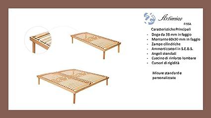 Red Fija de haya para cama individual también su misura Made in Italy