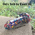 """Trippy Empire 4.5"""" Multicolor Glass Tobacco Smoking Pipe Very Heavy & High Quality Glass Made In USA - Sold by Raab Inc."""