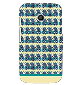 PrintDhaba Floral Pattern D-1498 Back Case Cover for MOTOROLA MOTO E (Multi-Coloured)