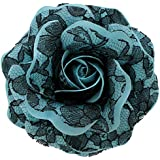 Sara Monica Flower Hair Clip and Pin Lace Rose: Made in the USA