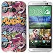 HTC One M8 (2014 Modell) H�lle Hardcase (Harte R�ckseite) Case Cover - Graffiti Bomben Design Muster Schutzh�lle f�r HTC One M8