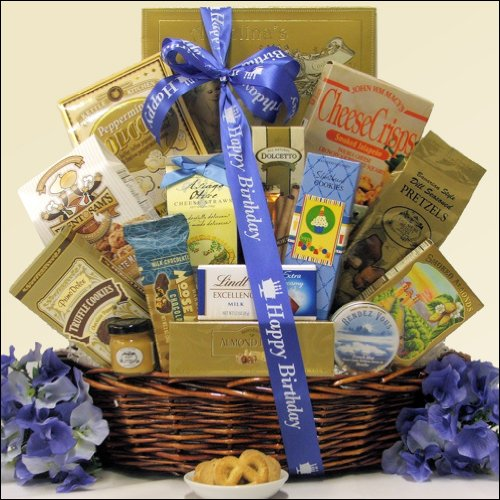 Best Wishes: Sweet & Salty Gourmet Birthday Gift Basket by GreatArrivals Gift Baskets