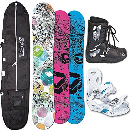 FTWO Snowboard SET GIPSY Lady 143cm + Eco Bindung + Boots + Bag