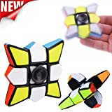 Gbell Imaginative Smooth And Speed Rubiks Cube, Puzzle Spinner Focus EDC Toy for Relieving for Kids&Adults,1x3x3/3x3x3 (E) (Color: E, Tamaño: 5.5x5.5x2cm/5.6x5.6x5.6cm)