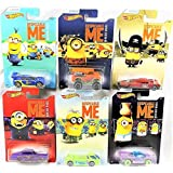 Set of 6 2017 Hot Wheels Despicable Me Minion Made Movie 1/6 2/6 3/6 4/6 5/6 6/6