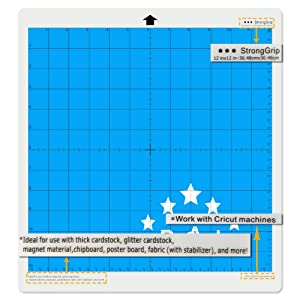 ReArt Strong Grip Cutting Mat for Cricut 12x12 - 4 Pack Adhesive Cut Mat Replacement work with Cricut Explore One/Air/Air 2/Maker (Color: StrongGrip, Tamaño: 12'' x 12'')