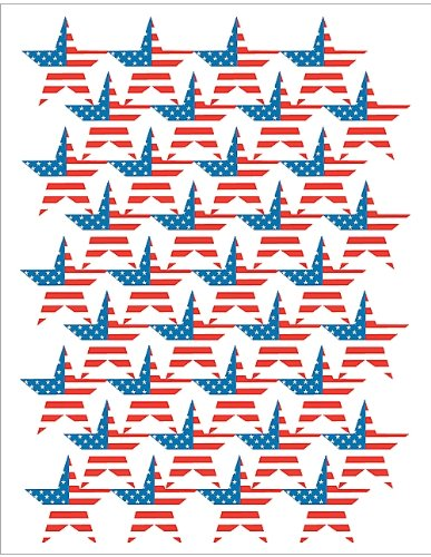 Teacher Created Resources Large Flag Stars Stickers (Foil), Multi Color (4210)